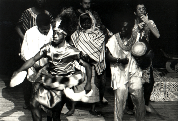 Obo Addy peforming with Doris Tetley and Adama in the Northwest, 1987, courtesy Susan Addy