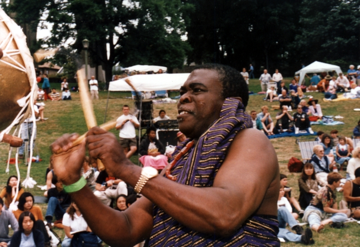 Obo Addy at the Homowo Festival, 1998, Portland, Oregon, courtesy Susan Addy