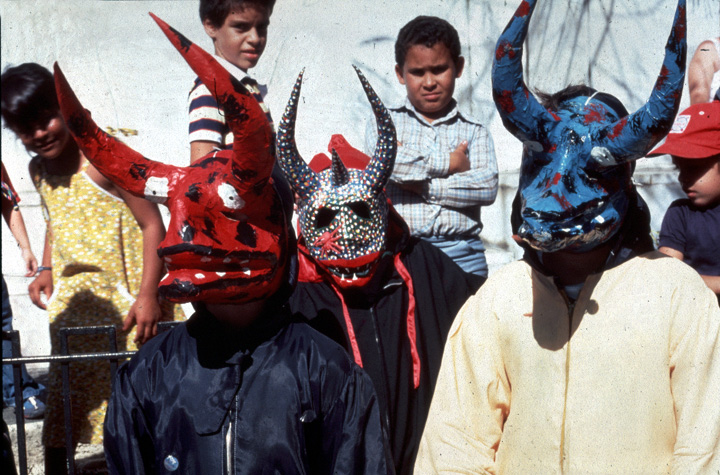 Masks made by Juan Alindato, photograph by Jack Delano, courtesy National Endowment for the Arts