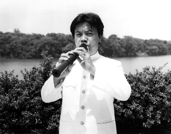 Sam-Ang Sam and his wife, Moly Sam, formed the Apsara Ensemble, which became the United States' premier Cambodian performing arts ensemble. Later, a third Cambodian immigrant, Sam-Oeun Tes, joined the group. Photograph by Evan Sheppard, courtesy Cambodian American Heritage