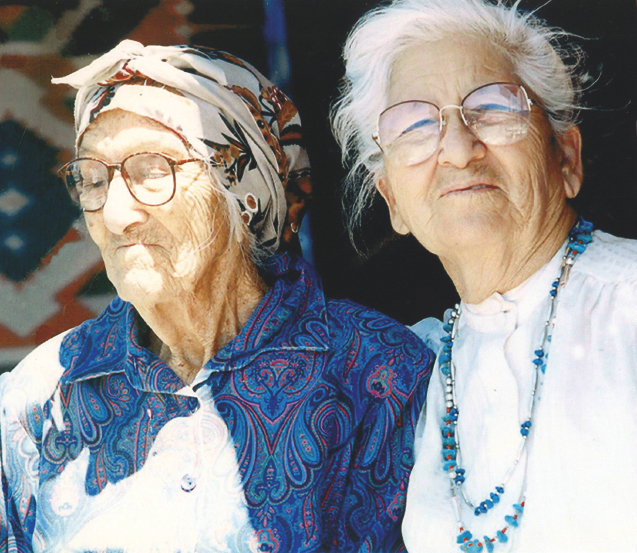 102 year-old Doña Agueda Martínez and her daughter Eppie Martínez Archuleta, courtesy of Ruben Archuleta  