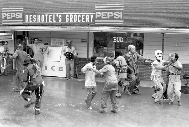 Mardi Gras, 1975, photograph by Nicholas R. Spitzer