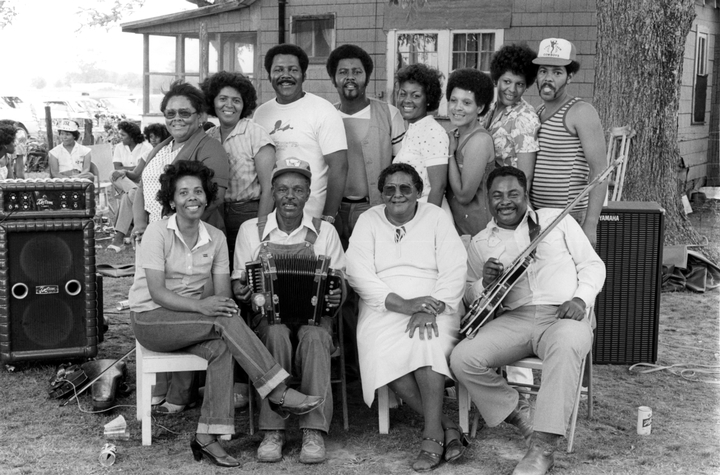 Ardoin family reunion, photograph by Chris Strachwitz/Arhoolie Records