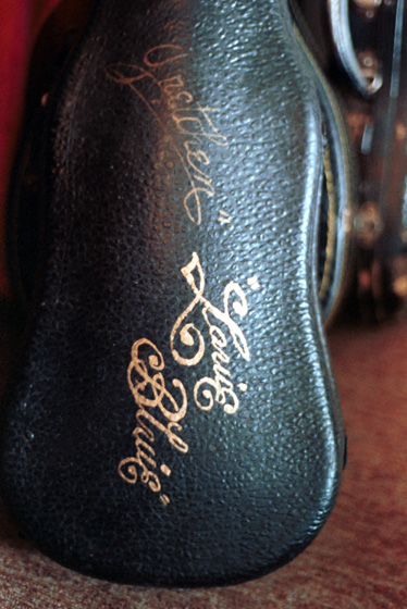 Howard 'Louie Bluie' Armstrong's violin case, photograph by Laurie Sommers, courtesy Michigan Traditional Arts Program, Michigan State University Museum