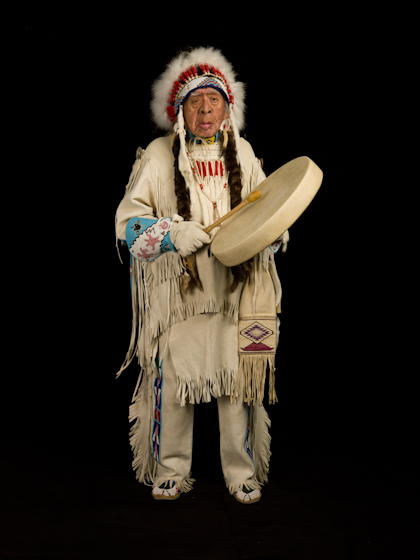 Horace P. Axtell was a tribal historian, language preservationist, storyteller, drum maker and singer whose 1997 memoir was the first published by a Nez Perce elder in more than fifty years. Bethesda, Maryland, 2007, photograph by Alan Govenar