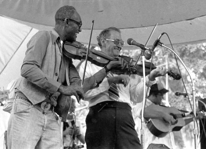 Canray Fontenot and Dewey Balfa, photograph by Al Godoy, courtesy Louisiana Folklife Program