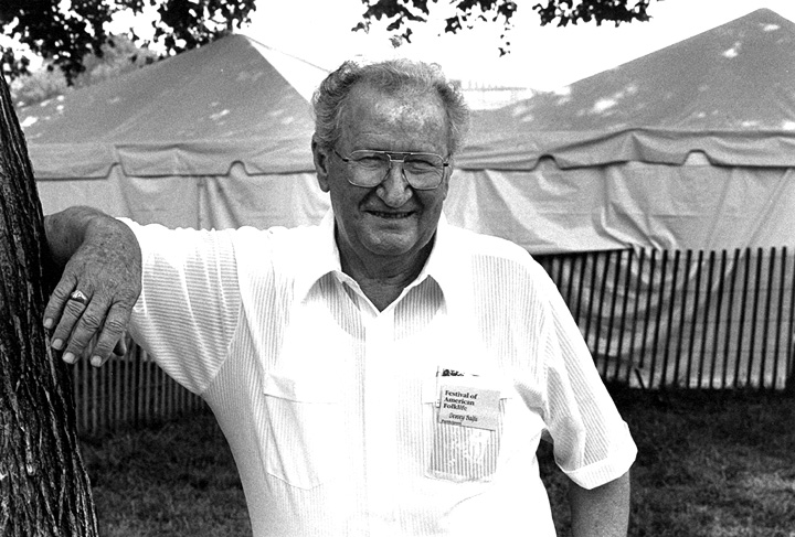 Dewey Balfa, 1989 Festival of American Folklife, photograph by Jack Vartoogian