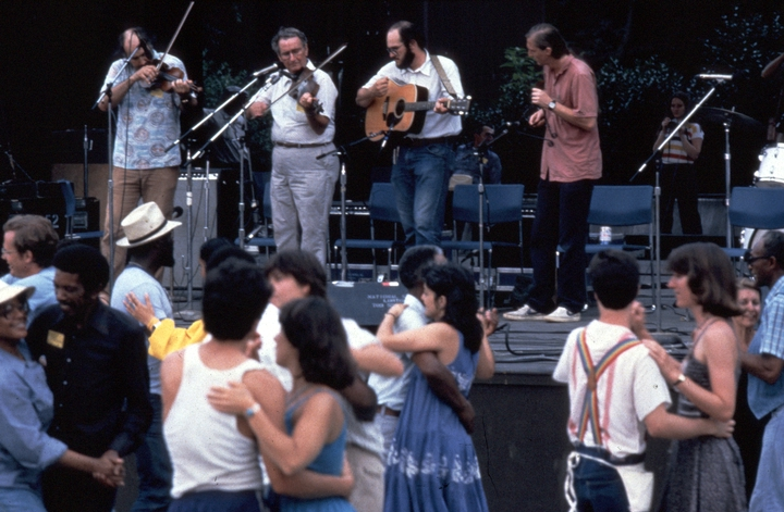 Dewey Balfa (second from left), courtesy Ralph Rinzler Folklife Archives and Collections, Center for Folklife and Cultural Heritage, Smithsonian Institution