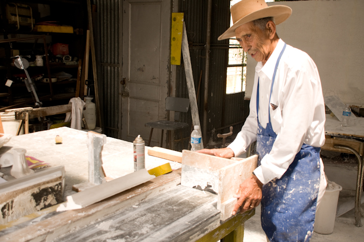 Earl Barthé in his studio/workshop, New Orleans, Louisiana, July 31, 2008, photograph by Alan Govenar