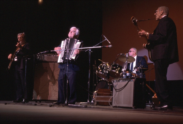 Louis Bashell and his band, 1987 National Heritage Fellowship Ceremonies, courtesy National Endowment for the Arts