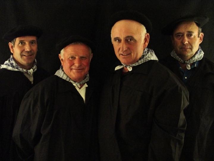 (left to right) Martin Goicoechea, Jesus Arriada, Johnny Curuchet and Jesus Goni, Arlington, Virginia, 2003, photograph by Alan Govenar