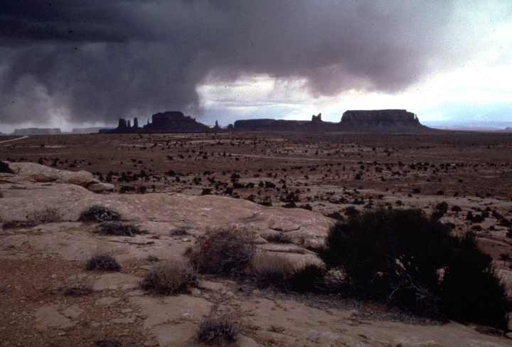 View from Mary Holiday Black's home in Monument Valley, Utah, photograph by Carol Edison, courtesy Utah Arts Council