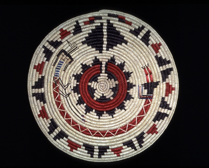 Rainbow Yei basket by Mary Holiday Black, Simpson Family Collection, photograph by Carol Edison, courtesy Utah Arts Council