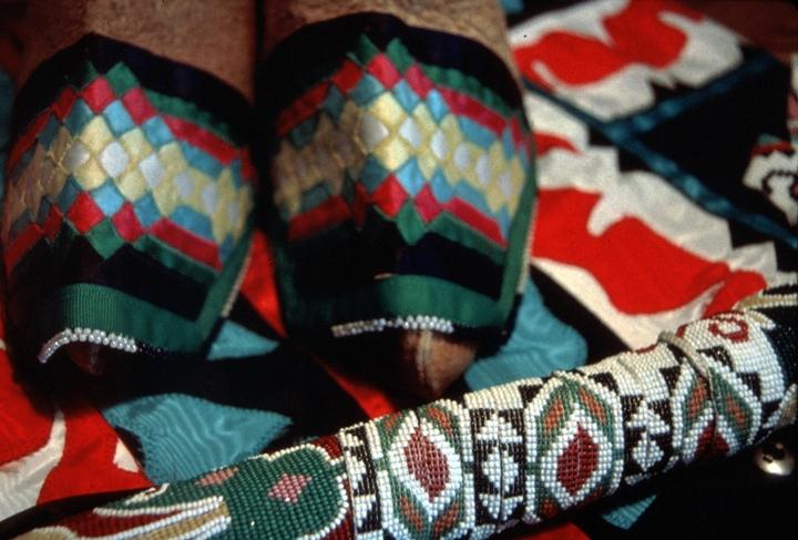 Hocak traditional crafts (detail) by Lila Greengrass Blackdeer, photograph by Lewis Kotch, courtesy National Endowment for the Arts
