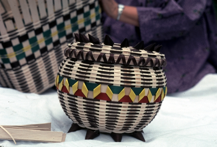 Basket by Lila Greengrass Blackdeer, photograph by Lewis Kotch, courtesy National Endowment for the Arts