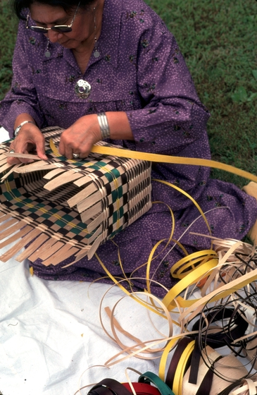 Lila Greengrass Blackdeer at work, photograph by Lewis Kotch, courtesy National Endowment for the Arts
