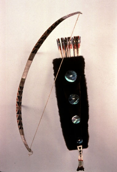 Bow and arrows, quiver set by George Blake, courtesy National Endowment for the Arts