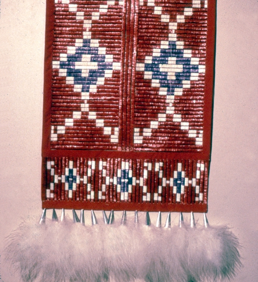 Tipi backrest with dangles made by Alice New Holy Blue Legs, ca. 1980, photograph by H. Jane Nauman, courtesy South Dakota Folk Arts Program and National Endowment for the Arts