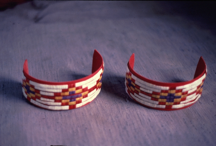 Armbands made by Alice New Holy Blue Legs, photograph by Elaine Thatcher, courtesy South Dakota Folk Arts Program and National Endowment for the Arts