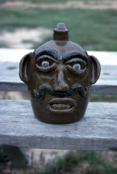 Face jug by Jerry Brown, Brown Pottery, Hamilton, Alabama, ca. late 1980s, photograph by Joey Brackner, courtesy Alabama State Council on the Arts