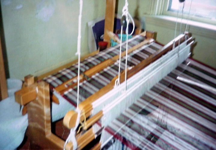 Loom set up in the home of Bun Em, Harrisburg, Pennsylvania, photograph by Joanna Roe, courtesy National Endowment for the Arts