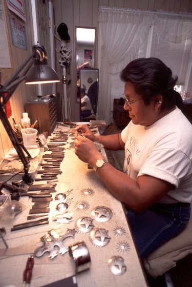 Bruce Caesar at work in his shop, photograph by Sandy Settle, courtesy National Endowment for the Arts