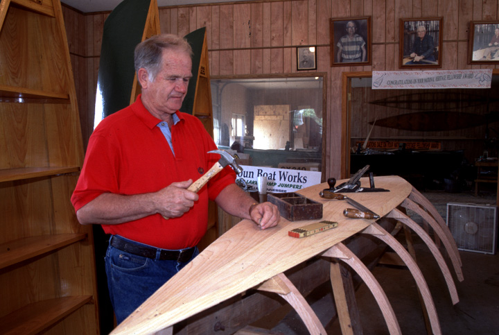 Dale Calhoun in his shop in Tiptonville, Tennessee, photograph by Jim Johnson, courtesy Dale Calhoun