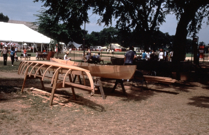 Dale Calhoun's Reelfoot 'Stumpjumper,' Festival of American Folklife, Washington, D.C., 1986, courtesy Dale Calhoun