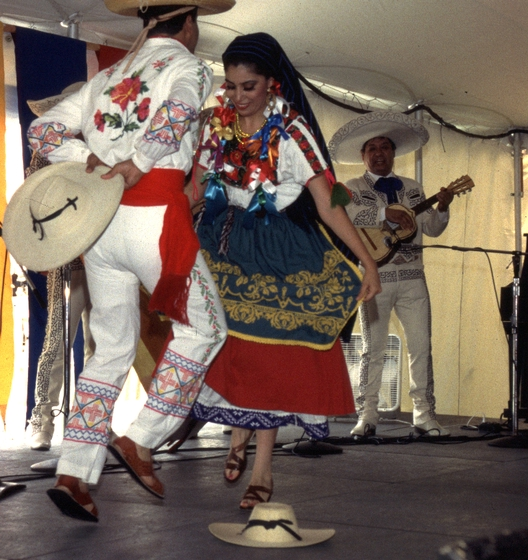 Natividad Cano y los Camperos performs at the 1994 Festival of American Folklife in a program honoring the National Heritage Fellows. Courtesy Ralph Rinzler Folklife Archives and Collections, Center for Folklife and Cultural Heritage, Smithsonian Institution