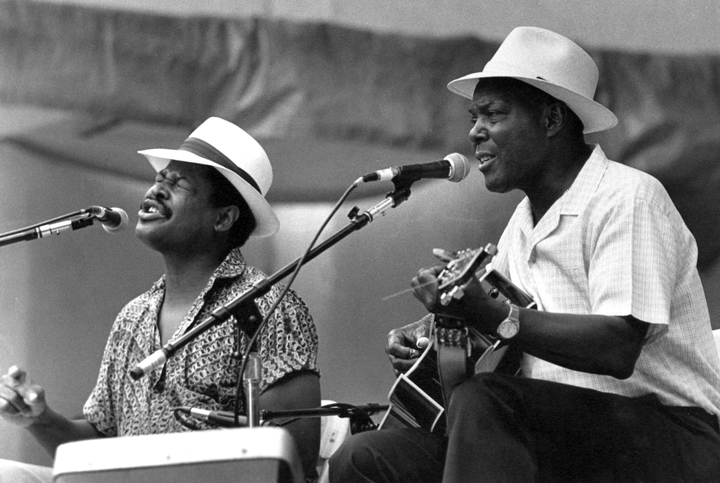 John Cephas and Phil Wiggins, Lincoln Center Out-of-Doors, Blues and Gospel Day, New York, New York, August 27, 1988, photograph by Jack Vartoogian