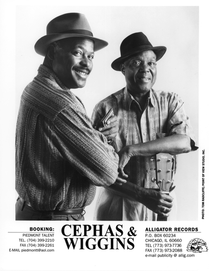 Advertisement for John Cephas and Phil Wiggins, photograph by Tom Radcliffe