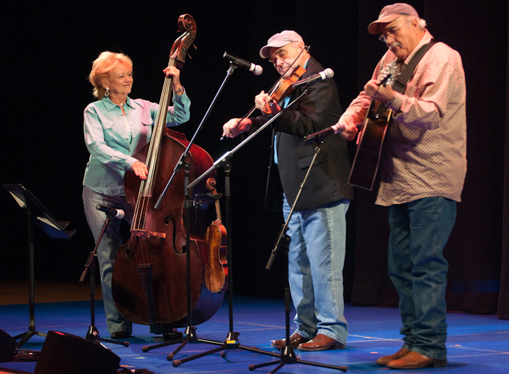 Jim Chancellor, accompanied by his wife, Ruth Chancellor, and his brother Robert Chancellor, 2010 National Heritage Fellowship Concert, Bethesda, Maryland, photograph by Alan Hatchett