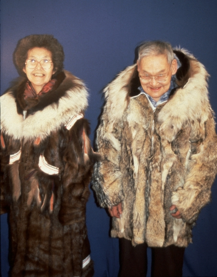 Elena and Nicholas Charles, photograph by Nicholas Charles, Jr., courtesy National Endowment for the Arts and Alaska State Council on the Arts
