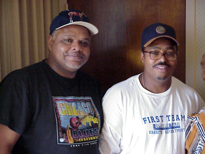 Wilson Chavis, Jr., and his brother Rellis Chavis, Arlington, Virginia, 2001, photograph by Alan Govenar