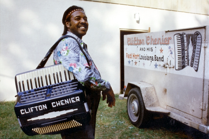 Clifton Chenier, 1975, photograph by Michael P. Smith, courtesy Chris Strachwitz/Arhoolie Records