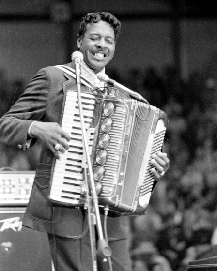 Clifton Chenier, 1974, photograph by Nicholas R. Spitzer