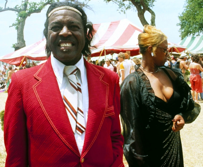 Clifton Chenier, New Orleans Jazz and Heritage Festival, New Orleans, Lousiana, 1981, photograph by Michael P. Smith