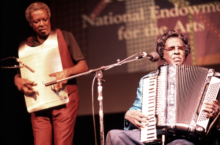 Cleveland and Clifton Chenier, 1984 National Heritage Fellowship Ceremonies, courtesy National Endowment for the Arts