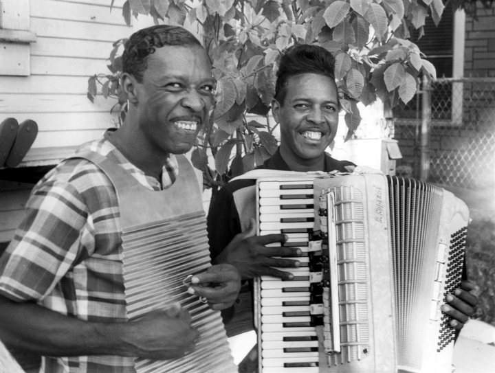 Cleveland and Clifton Chenier, photograph by Chris Strachwitz/Arhoolie Records