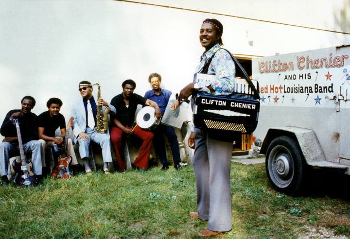 Clifton Chenier and his Red Hot Louisiana Band, 1975, photograph by Michael P. Smith, courtesy Chris Strachwitz/Arhoolie Records