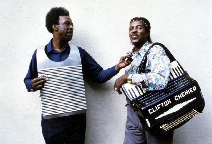 Cleveland and Clifton Chenier, 1975, photograph by Michael P. Smith, courtesy Chris Strachwitz/Arhoolie Records