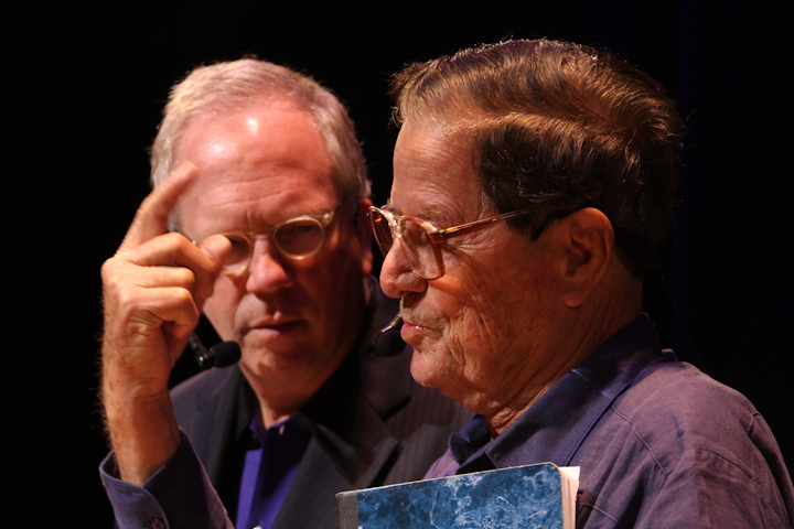 Walter Murray Chiesa and Nicholas R. Spitzer, 2008 National Heritage Fellowship Concert, Bethesda, Maryland, photograph by Michael G. Stewart
