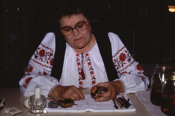 "Betty Piso Christenson's mother, a Ukrainian immigrant, beseeched her to keep alive the tradition of egg painting. ""Anything I can see, I can draw on an egg,"" Christenson says. Courtesy National Endowment for the Arts"