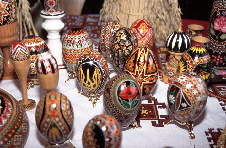 Decorated eggs by Betty Piso Christenson, courtesy National Endowment for the Arts