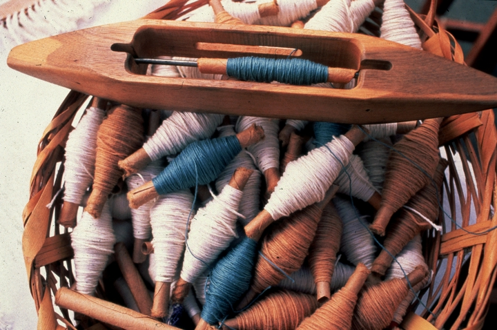 Cotton spools spun by Gladys Leblanc Clark, courtesy National Endowment for the Arts