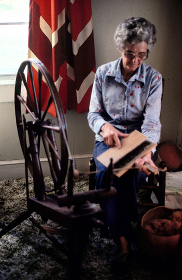 Gladys LeBlanc Clark at work, courtesy Louisiana Folklife Program