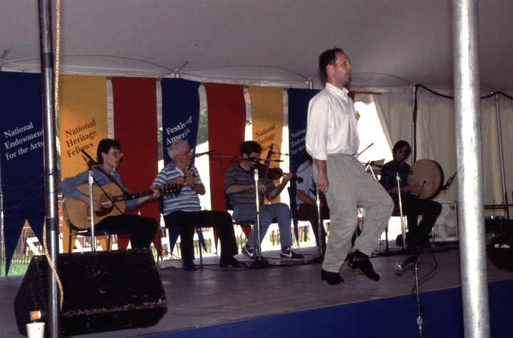 Jack Coen and friends,1994 Festival of American Folklife, courtesy Ralph Rinzler Folklife Archives and Collections, Center for Folklife and Cultural Heritage, Smithsonian Institution