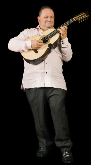 Edwin Colón Zayas is known internationally as the master of the cuatro, the national instrument of Puerto Rico. His collaborations have incorporated classical music, South American and Latin popular music and jazz. Bethesda, Maryland, 2009, photograph by Alan Govenar