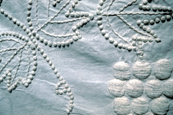 Grape Wreath knotted bedspread (detail) by Bertha Cook, courtesy National Endowment for the Arts