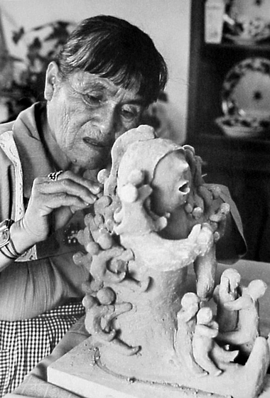 "Native American Cochiti Pueblo potter Helen Cordero said of her work, ""All my potteries come out of my heart. I talk to them. They're my little people, not just pretty things I make for money."" Photograph by Dudley Smith, courtesy Denver Museum of Natural History"